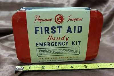 "6"" Physicians Surgeons ""Handy"" First Aid Emergency Kit Tin"