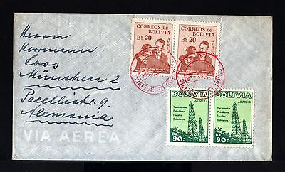 8286-BOLIVIA-AIRMAIL COVER LA PAZ to MUNCHEN(germany)1956.Aereo.Aerien.enveloppe