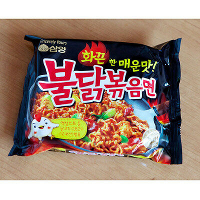 6 Pack Hot Spicy Chicken Noodles Ramen Fire Ramyun Delicious Korean Noodle