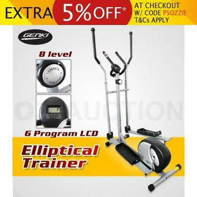 Elliptical Cross Trainer Bike Machine Step Bicycle Home Gym Exercise Fitness