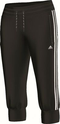 adidas Damen Trainingshose Essentials 3S 3/4 Pant schwarz weiß