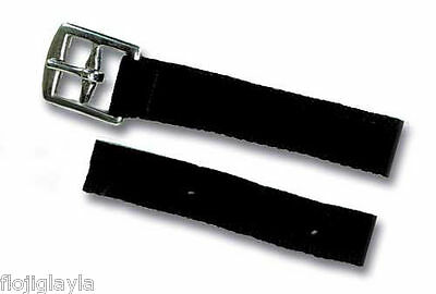 """SYNTHETIC STIRRUP LEATHERS  black  48"""" OR 54"""""""
