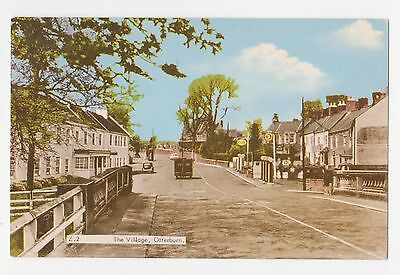 Otterburn,U.K.The Village,Street Scene,Northumberland,Used,1972-Card is c.1950s