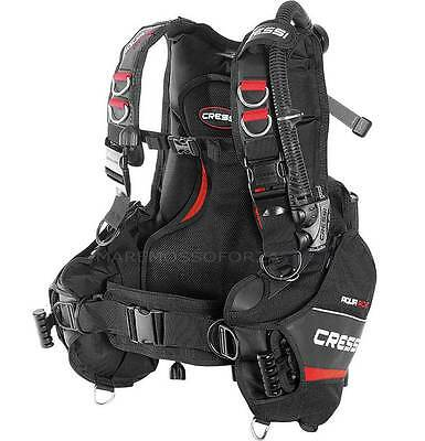 Jacket Cressisub Aquaride Con Tasche Piombi Tg Large Dive Bcd Lock-Aid System