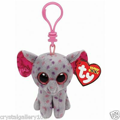 """TY Beanie Babies Boo's Specks Key Clip 3"""" Stuffed Collectible Plush Toy NEW"""