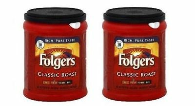 Folgers Classic Roast Ground Coffee 2 Can Pack