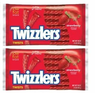 Twizzlers Strawberry Licorice 2 Bag Pack