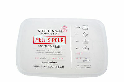 Clear Standard Melt and Pour Soap Base 1kg-12kg Stephensons Cosmetic Making