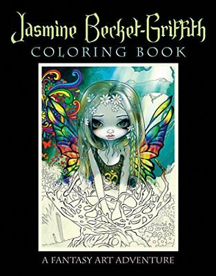 Adult Coloring Book Stress Relief Jasmine Becket-Griffith Fantasy Art Adventure