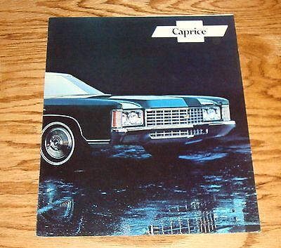 Original 1971 Chevrolet Caprice Facts Features Sales Sheet Brochure 71 Chevy