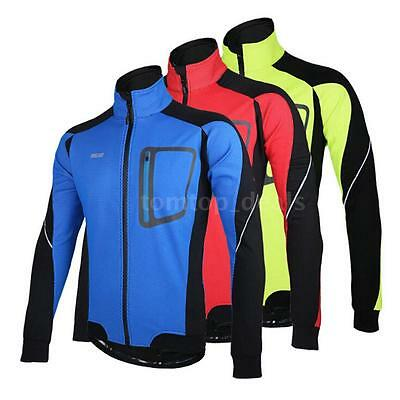 ARSUXEO Winter Warm Thermal Cycling Exercise Long Sleeve Jacket O0B1