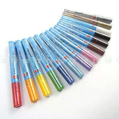 Marabu Brilliant Painter Paint Pens 2-4mm. For Porcelain,Glass,Metal,Wood etc