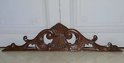 """45"" French Antique Carved solid Oak Wood Pediment Panel -  2 pieces same model"