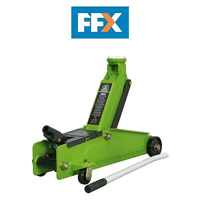 Sealey 1153CXHV 3 Tonne Trolley Jack Hi Vis Green