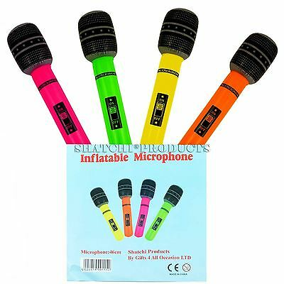 4PCS X 40CM Inflatable Microphone Hen Party Girls Night Fancy Dress Accessories