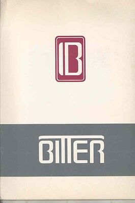 1983 Bitter Opel SC USA Press Kit Brochure wv5994