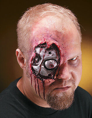 Cyborg Terminator Wound Metal Eye Latex Makeup Kit -Reel F/X