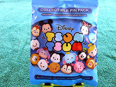 Disney* TSUM TSUM * Series 1 * New & Sealed * 5-pin Collectible Mystery Pin Pack