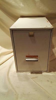Mid Century Myers Small Stacking Filing Cabinet White Finish