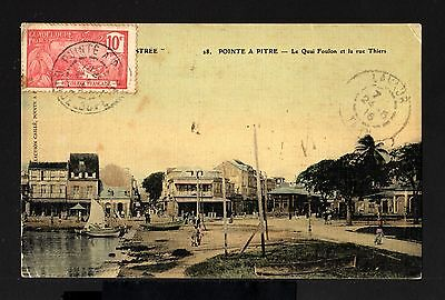 8336-GUADELOUPE-OLD POSTCARD PONTE PITRE to LAVAUX (france) 1916.French colonies