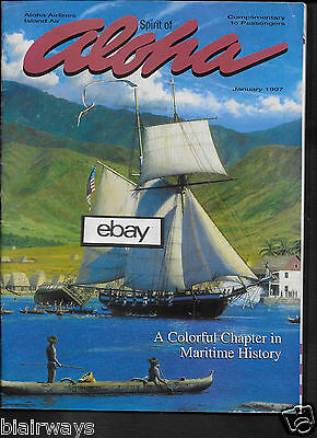 "Aloha Airlines ""spirit Of Aloha""inflight Magazine 1/1997 Maritime History-Whales"