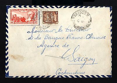 8322-INDOCHINA-AIRMAIL COVER SAIGON to COCHINCHINE.1946.WWII.Indochine.FRENCH C.