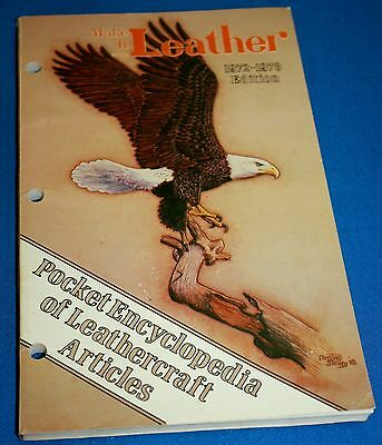 "Vintage ""Make It With Leather"" Book-Pocket Encyclopedia Of Leathercraft 1972-78"
