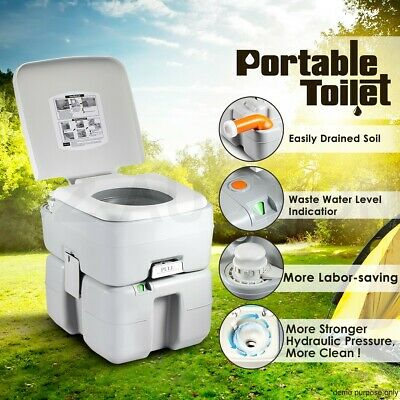 20L Camping Potty Outdoor Portable Toilet Camp Travel Caravan 50 Flushes