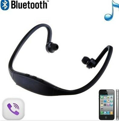 Cascos Auriculares Deporte Diadema Bluetooth Negros Reproductor Musica Movil Pc