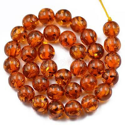 12mm Genuine Resin Round Jewelry Making Loose Beads Strand 15.5 inch