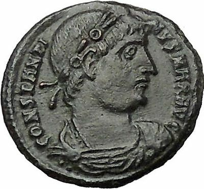 CONSTANTINE I the GREAT Ancient Roman Coin Legion Glory of the Army  i54435