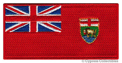 MANITOBA FLAG embroidered iron-on PATCH CANADA EMBLEM Canadian Province APPLIQUE