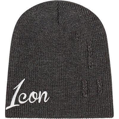Icon 1000 Charcoal Feedback Beanie One Size Fits Most - Fast, Free Shipping