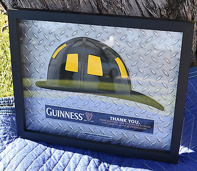 "Guinness 3-D Firefighter Fireman's Helmet 14.5"" X 12"" Wall Sign New"