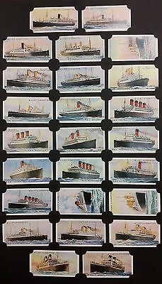 Card Collectors Society Full Repro Set of 50  Wills  Merchant Ships Of The World