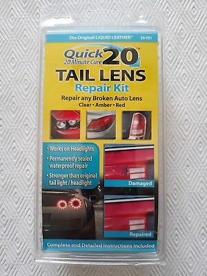 Quick 20 (20 Minute Cure)  NO HEAT Tail Light Lens Repair Kit-----brand new