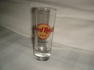 Hard Rock Cafe VIENTIANE LOGO shot glass 4""