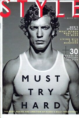 BILLY TWELVETREES - Multi-Page Photo Feature in STYLE Magazine, March 2014