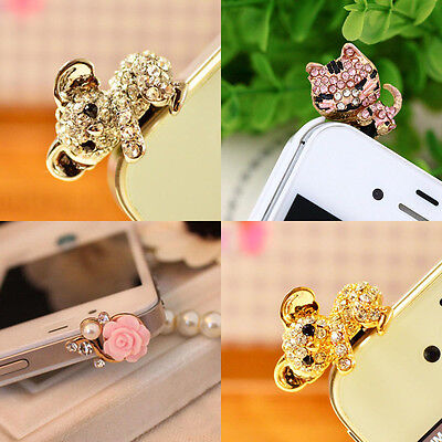 Cute Universal Dust Plug Cap Mobile Phone Tablet Charm Case Cover Accessories F