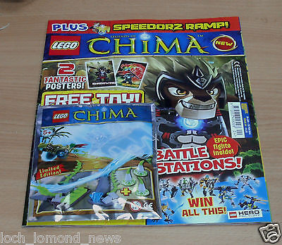 Lego Legends of Chima magazine comic Issue #4 Limited Edition Speedorz Ramp Toy