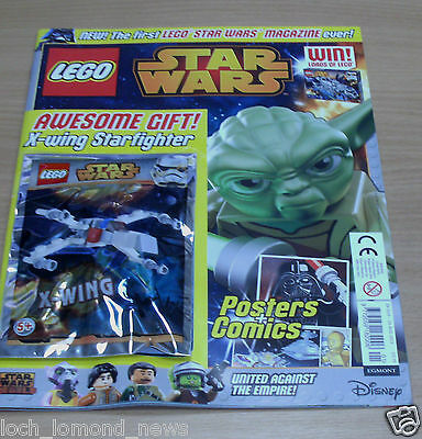 Lego Star Wars magazine comic Launch Issue #1 + X-Wing Starfighter Toy