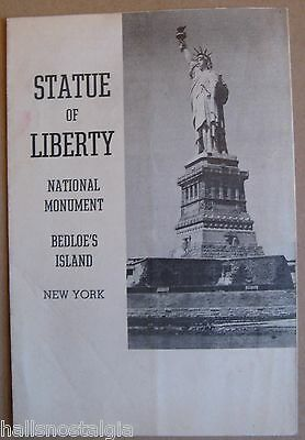 "1944 ""Statue of Liberty National Monument"", 8-pg folded brochure, FDR Remarks"