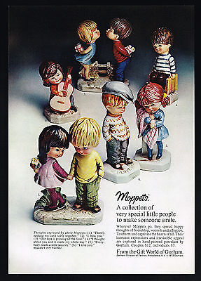 1972 Gorham Moppets 6 Figurines Photo Vintage Print Ad