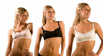 Emily B 608016 Iris Full Coverage Soft Full Cup No Wires Bra Ivory Black Pink