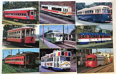 T7325      Trolley     Postcard  Lot,   9   Different  Cards