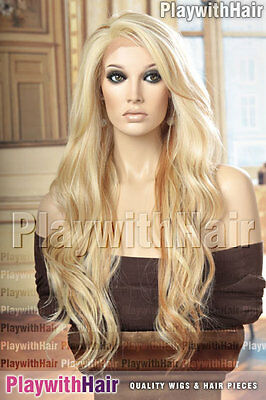 GORGEOUS Tousled Wig LACE FRONT Heat Friendly Platinum Blonde LOWLIGHT