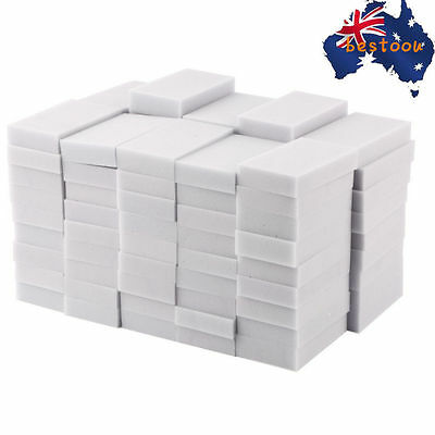 100pcs 100 x 60 x 20mm Magic Sponge Cleaner Super Decontamination Eraser GU~
