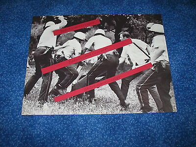 Press Photo Hippie Beat By Chicago Police Riot 68 Democrat Convention Grant Pk