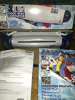 "YOU2 Cool-Seal Laminator laminate up to 9"" wide NIB cards recipes photos permits"