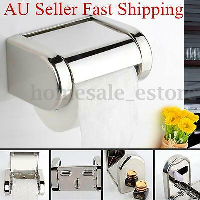Stainless Steel Chrome Bathroom Toilet Wall Mounted Roll Paper Tissue Box Holder